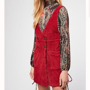 Free People Canyonland Cord Overall Jumper